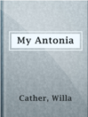 My Antonia