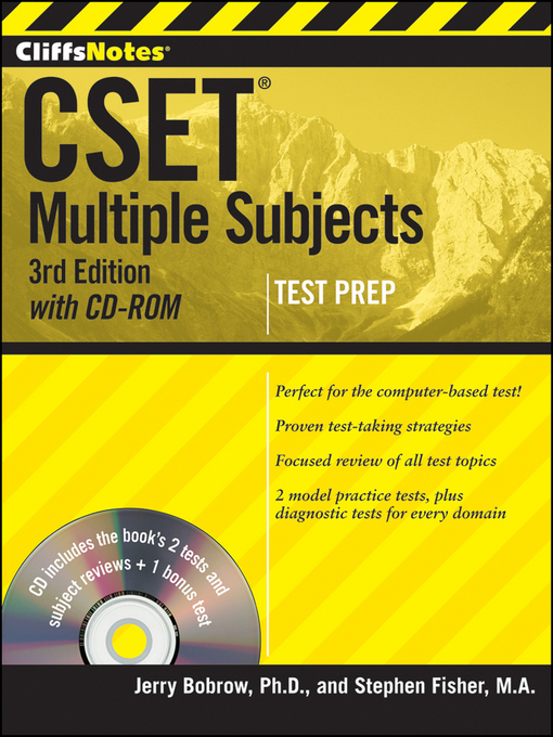 CliffsNotes CSET : Multiple Subjects  (eBook, 2012