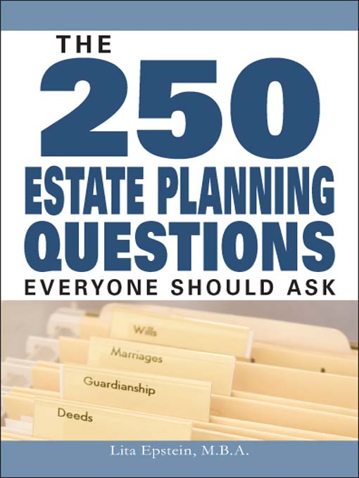 Digital collection browse 250 estate planning questions everyone should ask fandeluxe Images