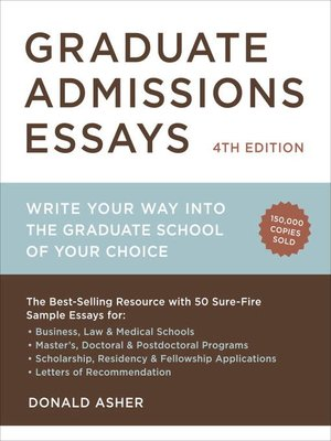 Graduate school admissions essay service