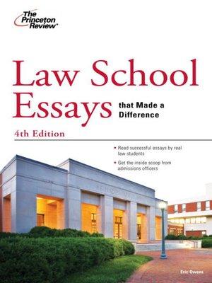 good law school admission essays