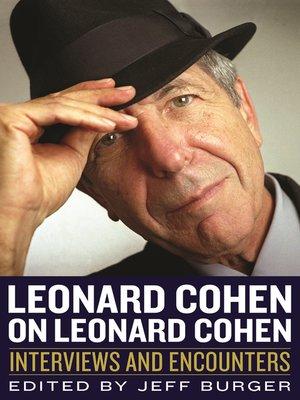 Cover of Leonard Cohen on Leonard Cohen