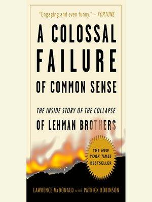 a colossal failure of common sense epub