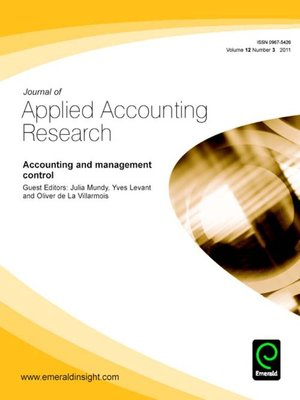journal of applied accounting research The international journal of digital accounting research is an open access journal founded in 2001 the ijdar covers comprehensively the frontier of trends in accounting and information technologies.
