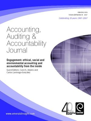 Accounting Auditing And Accountability Journal