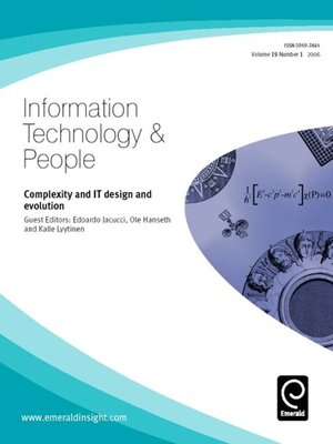 information technology and people Information technology & people publishes work that is dedicated to understanding the implications of information technology as a tool, resource and format for people in their daily work in organizations.