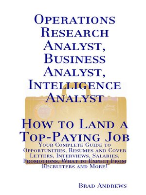 operations research analyst business analyst intelligence analyst
