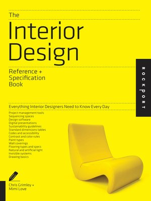 The Interior Design Reference Specification Book By