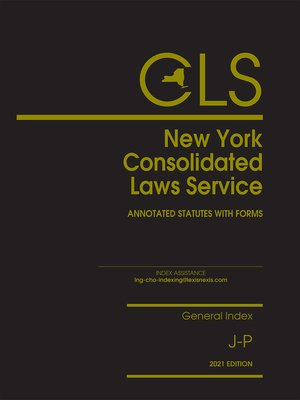 New York Consolidated Laws Service by Publisher's ...