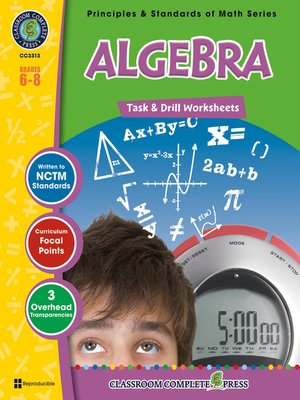algebra task drill sheets by nat reed overdrive ebooks audiobooks and videos for libraries. Black Bedroom Furniture Sets. Home Design Ideas