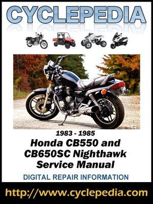 1983 honda nighthawk 650 service manual pdf