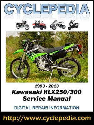 kawasaki klx250 300 1993 2013 service manual by cyclepedia. Black Bedroom Furniture Sets. Home Design Ideas