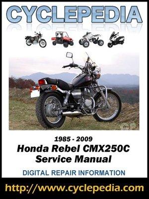 honda cmx250c rebel 250 online service manual