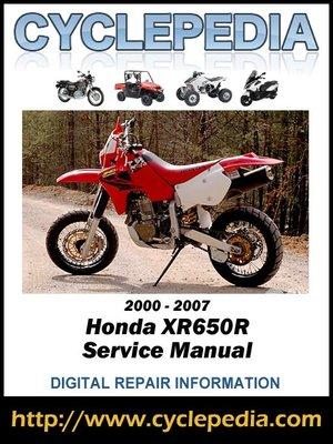 2007 honda crf250x service manual